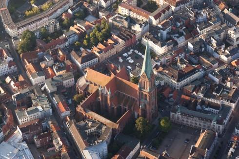 Schwerin, dom, katedral, markt, Nord-Tyskland