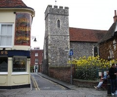 Canterbury, St Peter's Church, Cathedral, West gate, Christ Church Gate, Minster, Thomas Beckett, England, River Stour, The Old Weavers House, romertid, middelalder, early british gothic, Storbritannia